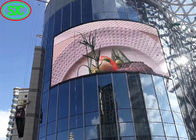 Curved Round Cube Arc Full Color Advertising Led Screens Indoor / Outdoor High Definition