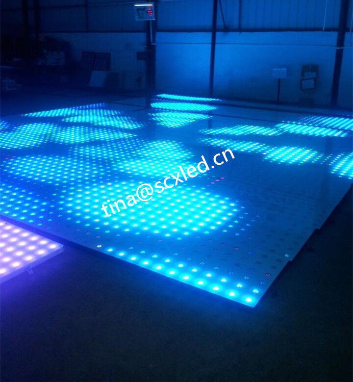 Rgb Club Dance Floor Hire , Durable Transparent Glass Disco Dance Floor Lighting Smd5050