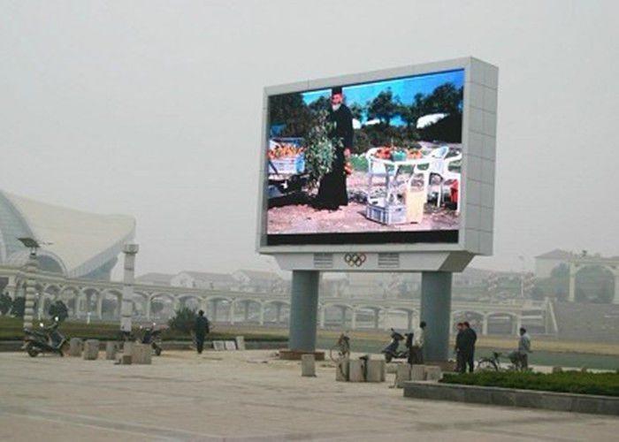 Outdoor P10 Outdoor Full Color Led Display , RGB Led Display Board High Bright
