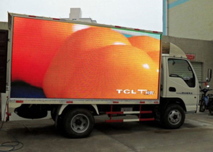 1R1G1B Mobile Truck Led Display , Advertisement Led Trailer Sign Linsn / Nova Control