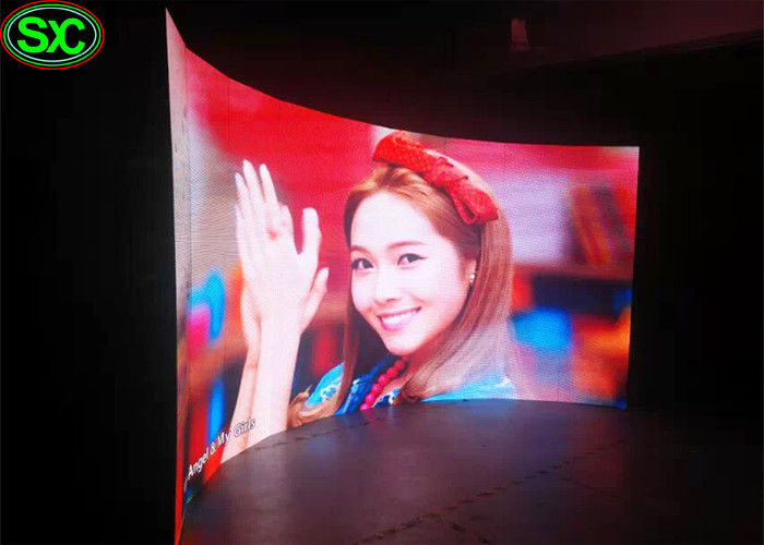 P3.91 Curved Shape Curtain LED Display Screen for Advertising , 5500-6500 nits