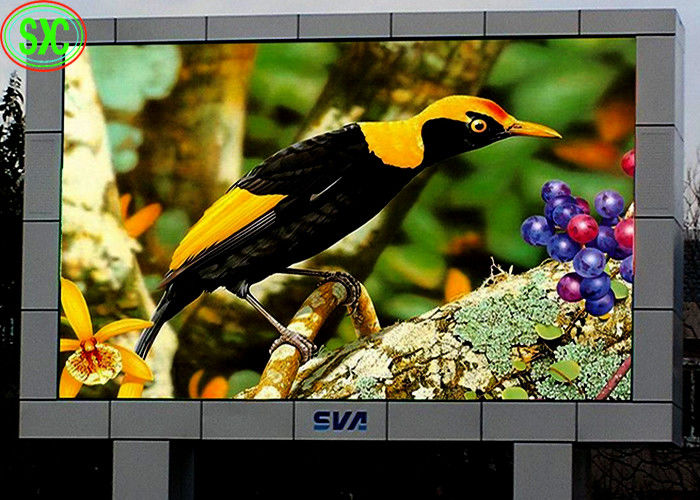 Waterproof Outdoor Full Color P6  LED Billboards / LED TV Display Fixed Installed electronic billboard signs