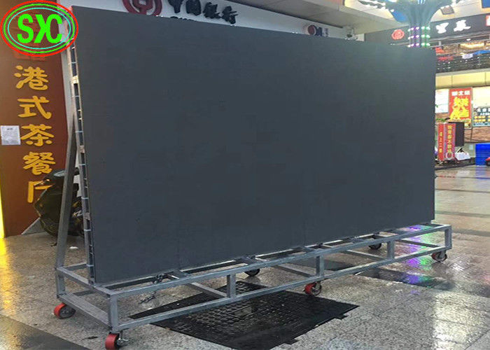 Noiseless Outdoor Rental LED Display Outdoor , LED Video Wall Screen Movable Steel Structure