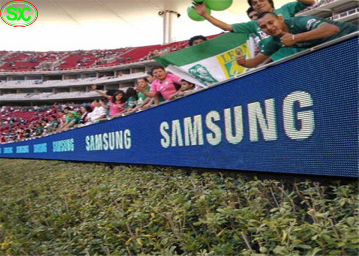 High resolution full color DIP SMD P10 sport perimeter stadium led display
